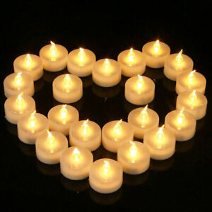 Flickering Led Tea Lights Candles Flameless Battery Operated Wedding Christmas