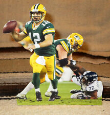 "Aaron Rogers Green Bay Packers Quarterback NFL Tabletop Display Standee 9"" Tall"