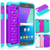 Shockproof Bling Hard Case Cover for Samsung Galaxy J3 Luna Pro / Prime / Emerge
