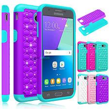 Shockproof Bling Hard Case Cover for Samsung Galaxy J3 Luna Pro / Prime / Emerge