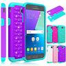 Shockproof Bling Glitter Hard Case Cover For Samsung Galaxy J7V/J7 Prime/Sky Pro
