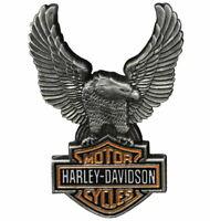 Harley-Davidson Up-Winged Eagle Bar & Shield Pin Antique Finish Vest Jacket Pin