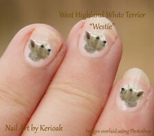 West Highland White Terrier, Westie,  Set of 24 Nail Art Stickers Decals