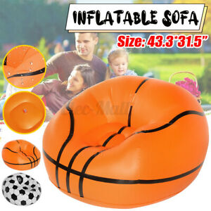 Inflatable Chair Lazy Sofa Blow Up Seat Gaming Lounger Couch Outdoor Camping ~