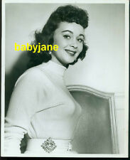 MARLA ENGLISH VINTAGE 8X10 PHOTO 1956 BUSTY SWEATER GIRL PINUP BY KEN McLAUGHLIN