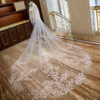 3.5M White Wedding Veils Cathedral 2T Comb Bridal Veil Accessories Cover Face