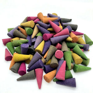 50 Incense CONES High Quality Scent Assorted Mixed Random Natural Made INDIA UK