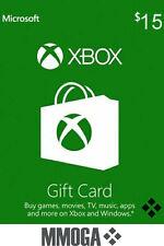 Xbox Live Gift Card 15 USD - $15 US Dollars USA Microsoft One 360 Guthabn Code*