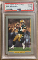 2005 AARON RODGERS PSA 9 TOPPS TURKEY RED ROOKIE RC #221 Green Bay PACKERS