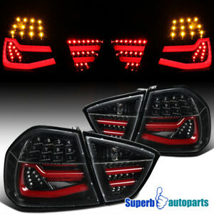For 2005-2008 BMW 3 Series E90 4Dr Sedan Tube LED Shiny Black Tail Brake Light