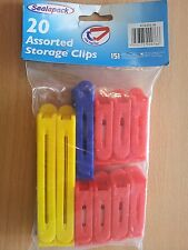 Brand New 20 Pcs Storage Kitchen Bag Clips Assorted Colors and Sizes Fresh Food
