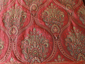 Polyester Metallic Yarn Brocade Jacquard Garment Thick Upholstery Fabric By Yard