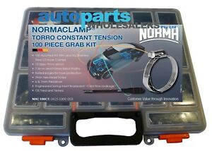 NORMA 100 PIECE HOSE CLAMP CONSTANT TENSION KIT MADE IN GERMANY