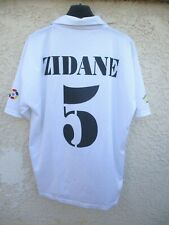 Maillot REAL MADRID 2002 ZIDANE n°5 camiseta vintage maglia shirt collection L