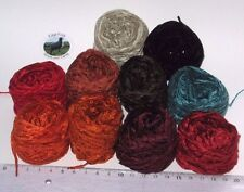 50g+ Small balls 4 ply Acrylic Chenille knitting wool yarn fly tying 2mm Bundle