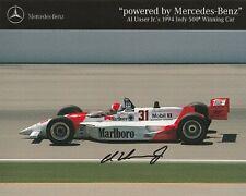 1994 AL UNSER JR. signed INDIANAPOLIS 500 HERO PHOTO CARD INDY CAR MARLBORO RACE