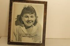 """JANE WITHERS Vintage Original Photo 1937 Early Child Star """"Signed"""""""