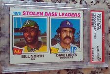 DAVE Davey LOPES 1977 Topps #4 PSA DNA Certified Autograph Auto L.A. Dodgers