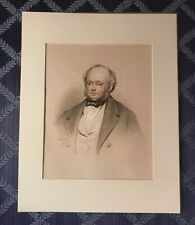 Exceptional 1849 American Graphite Portrait of a Gentleman Signed John Read