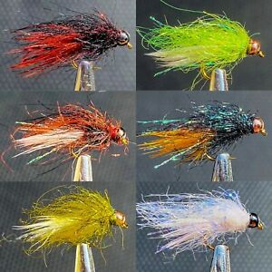Micro Bugger Nymph panfish fly fishing flies for trout, crappie, bluegill