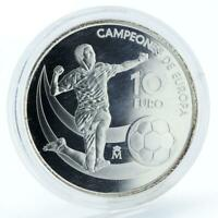 Spain 10 euro European Champions proof silver coin 2012