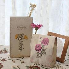 6* Geschenk Taschen Kraftpapier Bodenbeutel Verpackung Geschenktüten Papiertüten