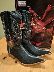 Men's Los Altos Genuine Rowstone Stingray Western Boots Pointed Toe 3X 8.5 EE