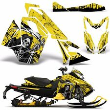 Decal Graphic Wrap Kit Ski Doo Sled Snowmobile REV XS Renegade MXZ 13+ REAP YLLW