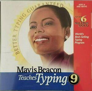 Mavis Beacon Teaches Typing 9 CD ROM B221/B237/B428 Windows 9.0 95/98/3.1 NT