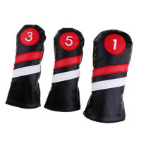 3X Golf Head Covers #1 Driver #3 #5 Fairway Woods Club Headcover Replacement