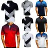 Polo Shirts Mens Casual Muscle Tee Tops Short Sleeve Summer Golf Plain T Shirt