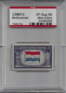 "913 - XF-SUP PSE Graded 95 Encapsulated ""Overrun Countries"" ""Netherlands"" MNH"