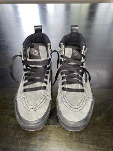 Vans Sk8-Hi MTE Canvas High Top Sneakers Skate Boys Girls Kids 4.5 Grey & Black