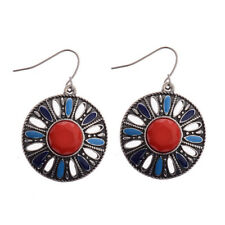 Alloy Earrings For Lady Dw-Eh-Hqe524 Exaggerated Bohemia Simulated Red Turquoise