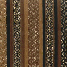 VISTA BROWN UPHOLSTERY FABRIC LODGE SOUTHWEST STRIPE RUSTIC FURNITURE