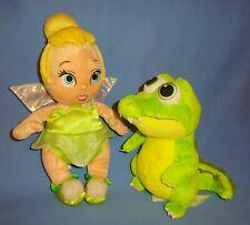 "Disney Plush Babies Tinkerbell Fairies 13"" & Peter Pan Crocodile-8""-Baby LOT-2"