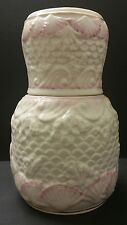 Belleek Bedside Carafe And Cup With Pink & White Seashells And Gold Trim *RARE*