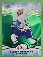 2018-19 Upper Deck ICE Green Parallel #48 Auston Matthews Toronto Maple Leafs