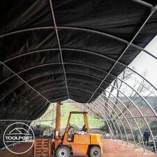 Rundbogenzelt -Halle Folien Lagerzelt Unterstand 9,15m x 10m 4,5m PVC ca. 720g/m