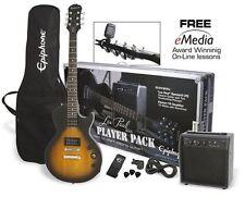 New & Sealed! Epiphone Electric Guitar Pack Les Paul Series - Vintage Sunburst