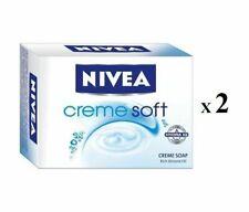 2 X NIVEA SOAP CREME SOFT CREME SOAP BATHING BAR NORMAL TO DRY SKIN 75GM FS