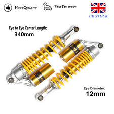 Gold RFY 340mm 13'' Motorcycle Rear Shock Absorbers Suspension For Honda Suzuki