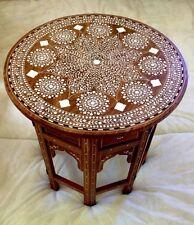 Indio Hecho a mano con incrustaciones de mesa impresionante trabajo de incrustaciones