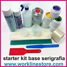 starter Kit base serigrafia  plastisol macchina serigrafica accessori colla