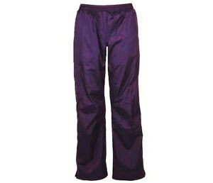 LADIES WATERPROOF WINDPROOF TROUSERS purple sailing trekking hike bottoms XS-XL