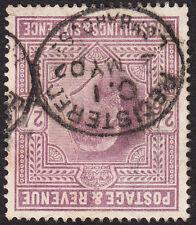 SG 260 2/6d De La Rue Lilac M48(1) Watermark Inverted, VFU,dated Lombard St. CDS