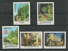 MONACO/ Kaktus-Pflanzen MiNr 1571/75 **
