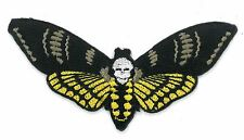 DEATH MOTH iron on/sew on Embroidered Patch Applique DIY (US Seller)