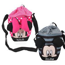 1xdisney Mickey Minnie Mouse Dot&stripe Water Bottle Insulated Holder Bag Travel