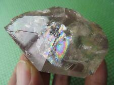 A Rare Natural Tibet Clear Quartz Crystal Specimens W Rainbows 112.9g